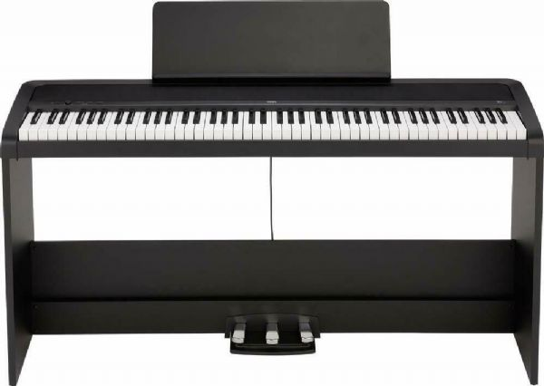 Korg B2SP Digital Piano with Wooden Stand and Pedal-board - Black - B2SP-BK